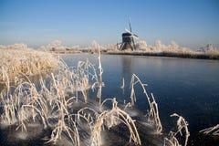 Holländische Winterlandschaft Stockfotos