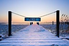 Holländische Winterlandschaft Lizenzfreie Stockfotos