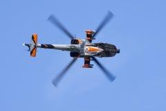 Holländischer Apache AH-64D zeigen allein Team an stockbild