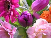Holländischer Frühlingsblumenstrauß Stockbild