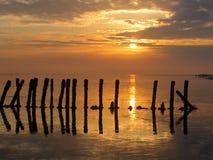 Holländischer Sonnenaufgang Stockfotos