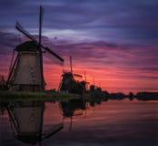 Holländischer Sonnenaufgang Lizenzfreie Stockfotografie