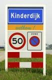 Holländisches Stadtbezirkszeichen stockfoto