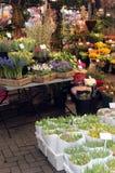 holländsk blommamarknad Arkivfoto