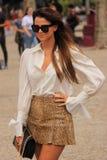 Holländsk flicka som poserar på modeveckan amsterdam arkivbild