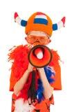 holländsk fotbollsupporter royaltyfria bilder