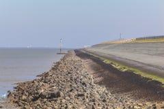 Holländsk havfördämning Arkivbild