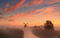 Holländsk himmel Arkivfoto