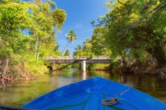 Holländsk kanal i Negombo arkivbilder