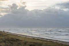 Holländsk kust för storm Arkivfoto