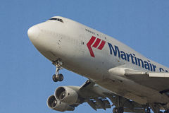 Holländsk last boeing 747 Arkivfoton