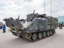 Holländsk militär behållare Arkivbild