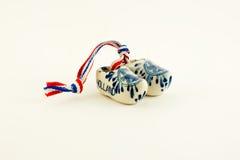 holländsk miniature för keramiska clogs Royaltyfria Foton