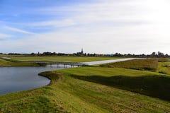Holländsk naturvård och vattenlagring Royaltyfri Fotografi