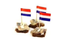 holländsk ny sillhollandsenieuwe Arkivbild