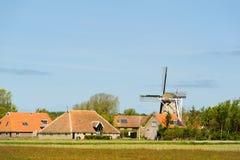 Holländsk by på Terschelling Arkivbild
