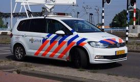 holländsk polis för bil arkivbilder