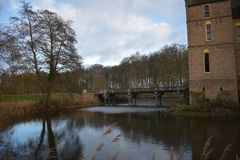 Holländsk slott Vorden arkivfoto
