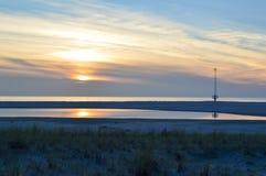 Holländsk sommarsolnedgång Arkivfoton