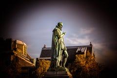 Holländsk staty för konung Willen I i Haag royaltyfri foto