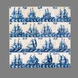 Holländsk tegelplatta från 16th till det 18th århundradet Arkivbilder
