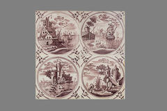 Holländsk tegelplatta från 16th till det 18th århundradet Royaltyfria Bilder