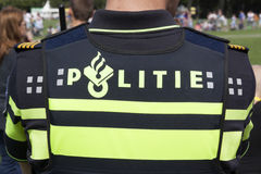 holländsk tjänstemanpolis arkivbilder
