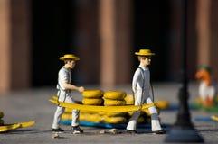 holländsk transport för ost fotografering för bildbyråer