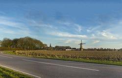 Holländsk väderkvarn i Nederländerna Arkivbilder