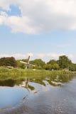 holländsk windmill Arkivfoton