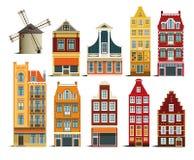 holländska hus Arkivbild
