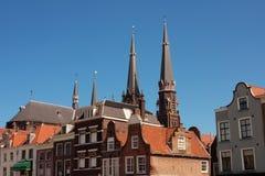 holländska hus Arkivfoto