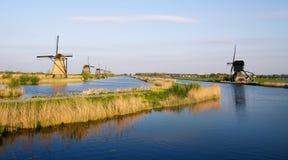 holländska kinderdijkwindmills Royaltyfri Bild
