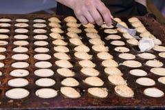 holländska pannkakor Arkivfoto
