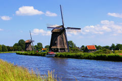 holländska windmills Royaltyfri Fotografi