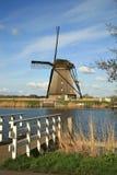 holländska windmills Arkivbilder
