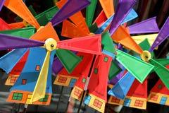 holländska windmills Arkivfoton