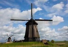 holländska windmills royaltyfri foto