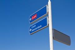 Holländskt riktningstecken Arkivbilder