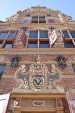 Holländskt tidigare guld- kontor i den Groninger staden Fotografering för Bildbyråer