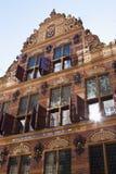 Holländskt tidigare guld- kontor i stad av Groningen Arkivbilder