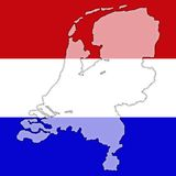 Holland. The national colors of Holland royalty free illustration