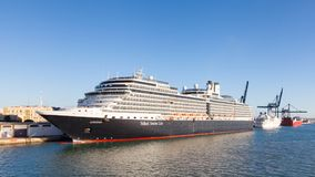 Holland America Cruise Ship Eurodam Docked in Cadiz. The maiden voyage of Eurodam was in 2008 Stock Photos