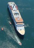 Holland America Cruise Ship Maasdam alla baia del francese nel porto di Antivari, Maine Fotografia Stock Libera da Diritti