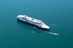 Holland America Cruise Ship Maasdam nel porto di Antivari Fotografie Stock