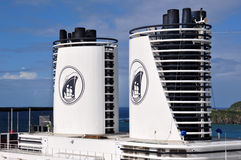 Holland America Line. Holland America cruise ship funnels and logo royalty free stock images