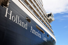 Holland America Line. Holland America cruise ship bow and bridge royalty free stock photos