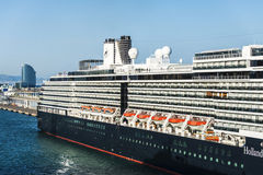 Holland America Line cruise in the port of Barcelona Royalty Free Stock Images