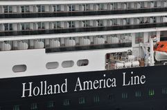 Holland America Line. MS Koningsdam, Holland America Line cruise ship royalty free stock image