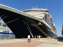 Holland America Line. Noordam cruise ship docked in Kusadasi, Turkey. Holland America Line royalty free stock photography